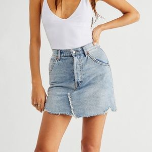 We the Free • Distressed Brea Cut Off Skirt